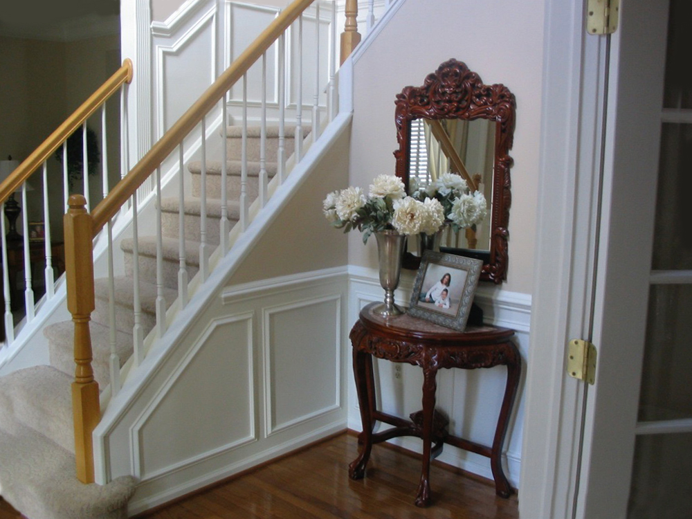 Custom wainscoting, room renovation & refinishing by Ricco Builders