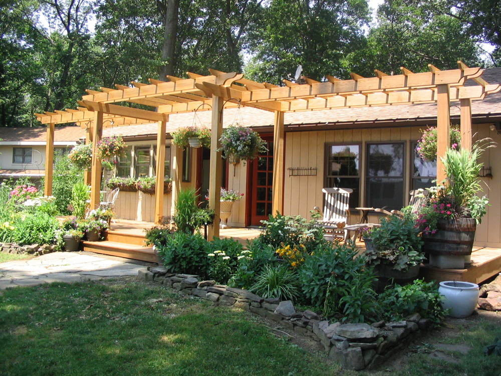 Cozy and colorful outdoor exterior renovation